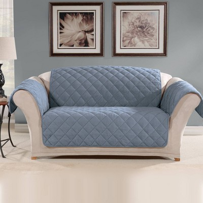 Suede Microfiber Loveseat Furniture Protector Cover - Sure Fit