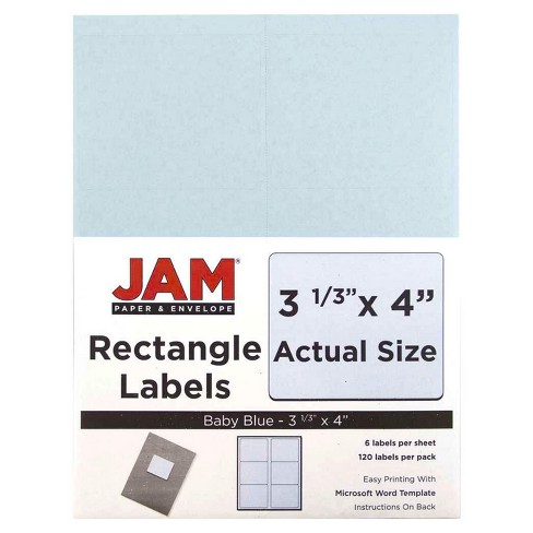 "JAM Paper® Mailing Labels 3 1/3"" x 4"" 120ct - image 1 of 2"