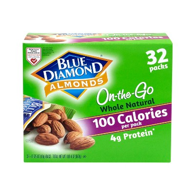 Nuts & Seeds: Blue Diamond Whole Natural 100 Calorie On-the-Go Bags