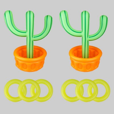 2ct Inflatable Cactus Ring Toss Lawn Game Set  - Bullseye's Playground™