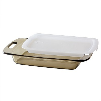 Pyrex 3-qt. Baking Dish with Lid - Amber Tint
