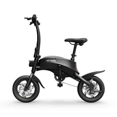 """Jetson Axle 12"""" Foldable Electric Bike - Black"""