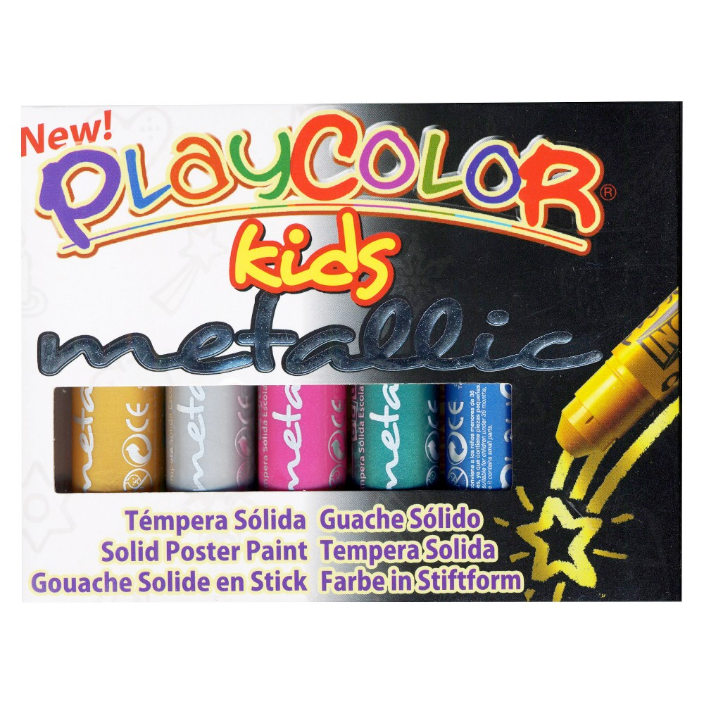 Image of Paint Sticks Metallic 6ct - Playcolor