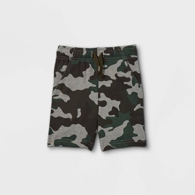 Toddler Boys' Camo Print French Terry Pull-On Shorts - Cat & Jack™ Green
