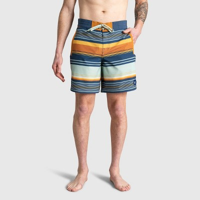 """United By Blue Men's Recycled 8"""" Scalloped Board Shorts"""