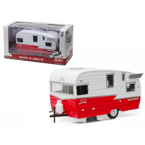 Shasta Airflyte 15 Camper Trailer Red For 1 24 Scale Model Cars And Trucks Cast By Greenlight Target