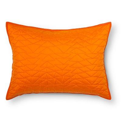 Triangle Stitch Pillow Sham (Standard) Orange - Pillowfort™