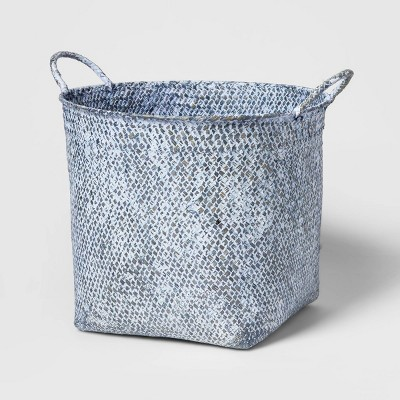 "Decorative Basket Blue Washed 12.75"" x 13"" - Threshold™"