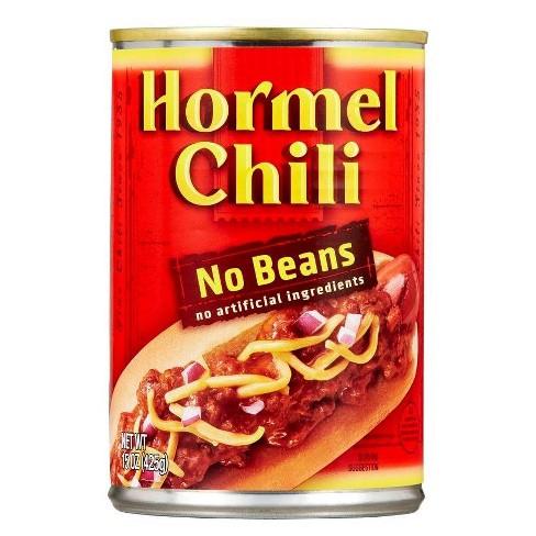 Hormel No Beans Chili 15oz : Target