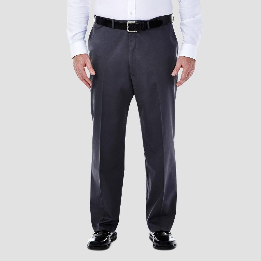 Promos Haggar Men's Big & Tall Premium No Iron Classic Fit Flat Front Casual Pants -