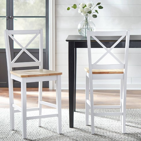 """Set of 2 24"""" Virginia Counter Height Barstools - Buylateral - image 1 of 3"""