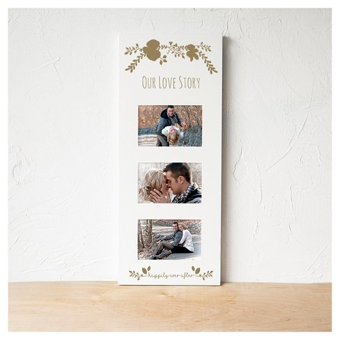 White/Gold Floral Multi Picture Frame : Target