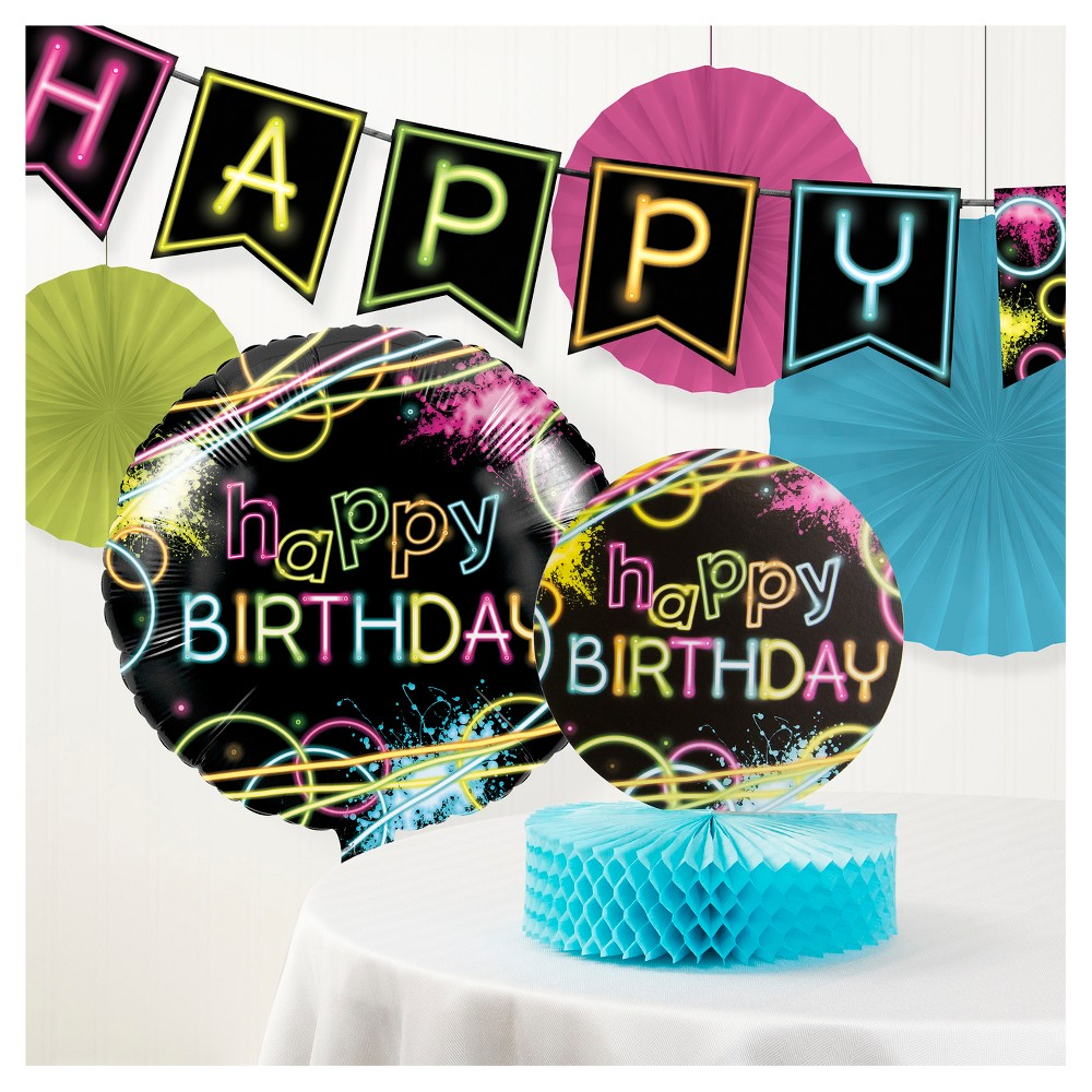 Image of Glow Party Decorations Kit