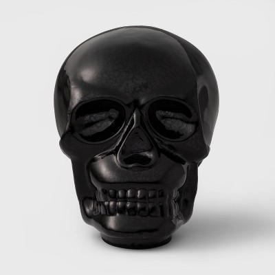 Black Mercury Glass Skull Halloween Decoration Large - Hyde & EEK! Boutique™