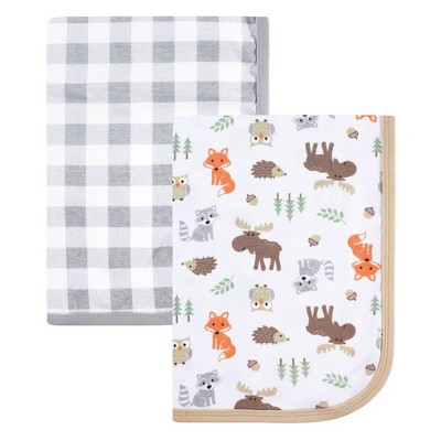 Hudson Baby Unisex Baby Cotton Swaddle Blanket - Woodland One Size