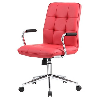 Modern Office Chair with Chrome Arms Red - Boss Office Products