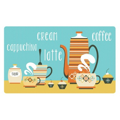 Multi Coffee Shop Kitchen Comfort Mat (18 X30 )