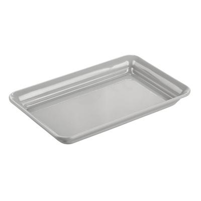 mDesign Metal Bathroom Vanity Storage Organizer Tray Holder
