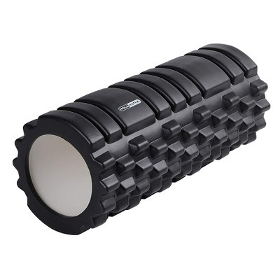 HolaHatha Portable Hollow High Density EVA Foam Muscle Roller for Deep Tissue Back Massage, Calf Therapy, Glute Massaging, Back Pain, and Leg Recovery
