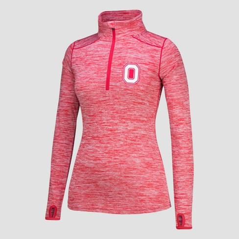 NCAA Ohio State Buckeyes Women s Get Going Long Sleeve 1 2 Zip Pullover 4aad39075