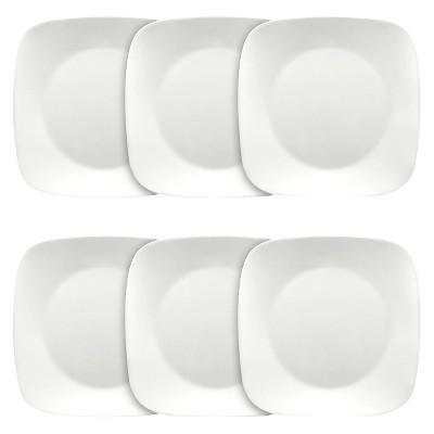 "Corelle Square Vitrelle Plates (10.25"")White - Set of 6"