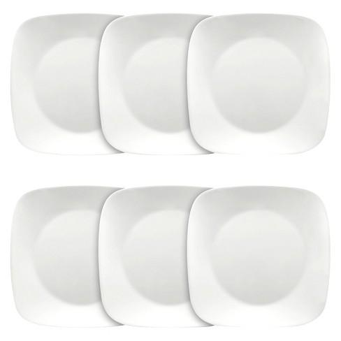 "Corelle Square Vitrelle Plates (10.25"") White - Set of 6 - image 1 of 1"