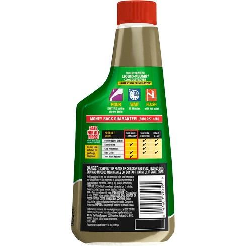 liquid-plumr pro-strength clog remover hair clog eliminator 16 oz ...
