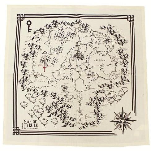 Nerd Block Legend Of Zeld Map Of Hyrule Tea Towel Set Of 2 - image 1 of 1