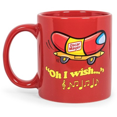 Toynk Oscar Mayer Hot Dog Logo Ceramic Coffee Mug | Holds 16 Ounces
