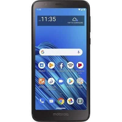 Tracfone Prepaid Moto e6 (16GB) Smartphone - Black