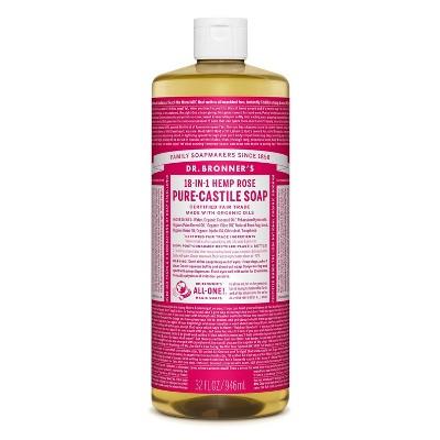 Dr. Bronner's 18-In-1 Hemp Pure-Castile Soap - Rose - 32 fl oz