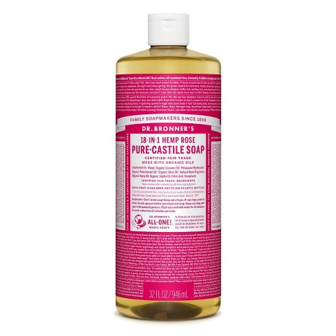 Dr. Bronner's 18-In-1 Hemp Pure-Castile Soap - Rose - 32 fl oz - image 1 of 3