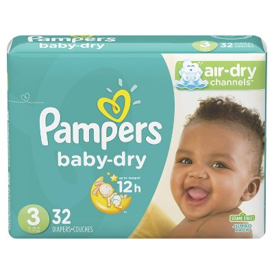 Pampers Baby Dry Diapers, Jumbo Pack - Size 3 - 32ct