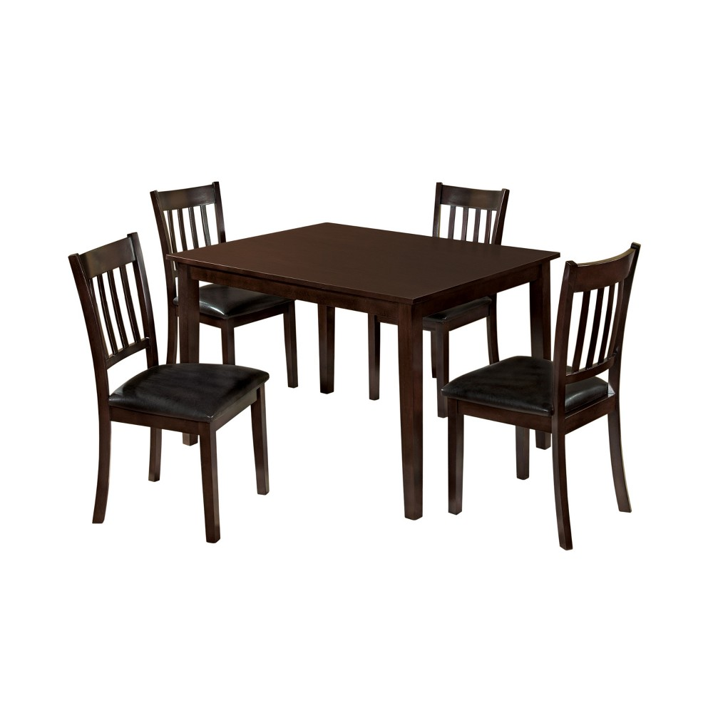 Image of 5pc miBasics Lincoln Dining Set in Espresso