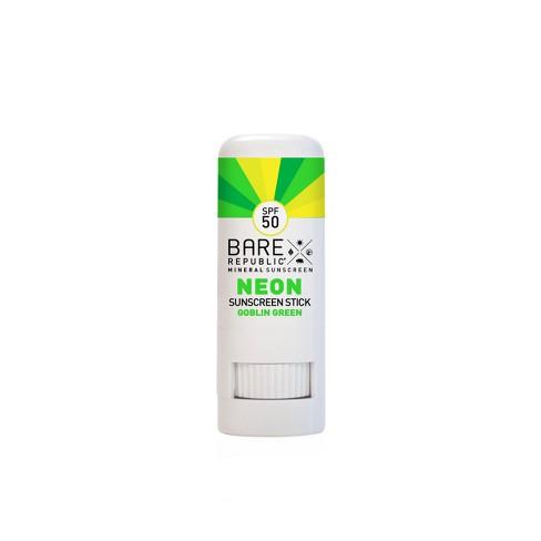 Bare Republic Neon Sunscreen Stick Golbin Green - SPF 50 - 0.3oz - image 1 of 4