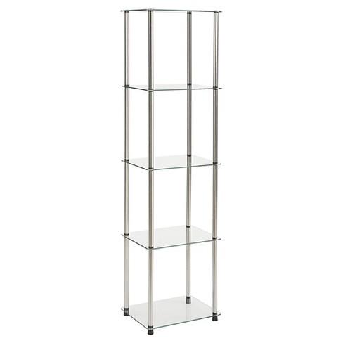 "62"" 5 Tier Glass Tower Glass - Johar Furniture - image 1 of 3"