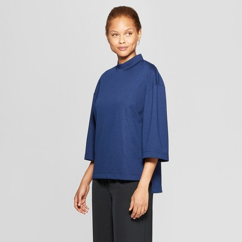 Women's 3/4 Flare Sleeve Mock Neck T-Shirt - Prologue™ - image 1 of 3