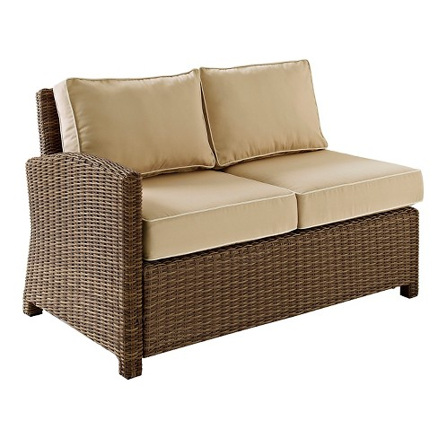 Crosley Bradenton Outdoor Wicker Sectional Left Corner Loveseat with Sand Cushions - image 1 of 6