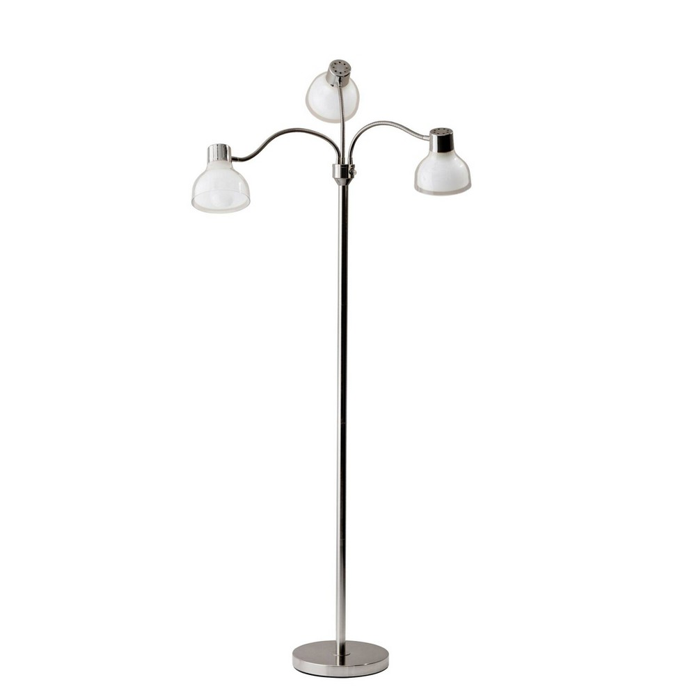 Image of 3 Arm Presley Floor Lamp Light Silver (Lamp Only) - Adesso