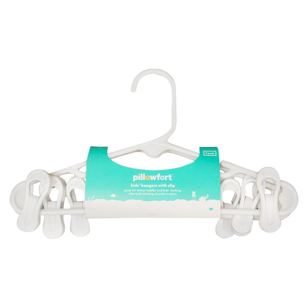 3 pk White Kids Hanger With Clips - Pillowfort