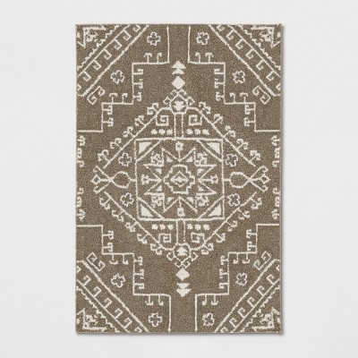 2'X3' Floral Tribal Persian Knitted Rug Tan - Threshold™