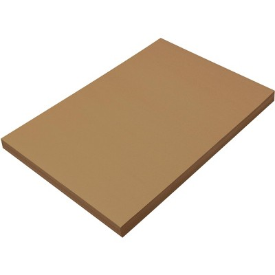 SunWorks Heavyweight Construction Paper, 12 x 18 Inches, Light Brown, 100 Sheets