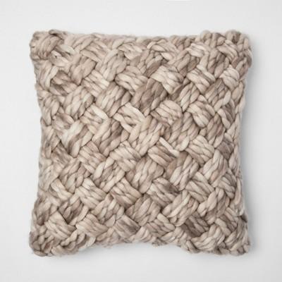 Cream Chunky Woven Throw Pillow - Threshold™
