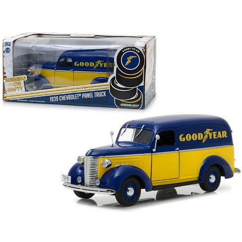 "1939 Chevrolet Panel Truck ""Goodyear Tires"" Running on Empty Series 1/24 Diecast Model Car by Greenlight - image 1 of 3"