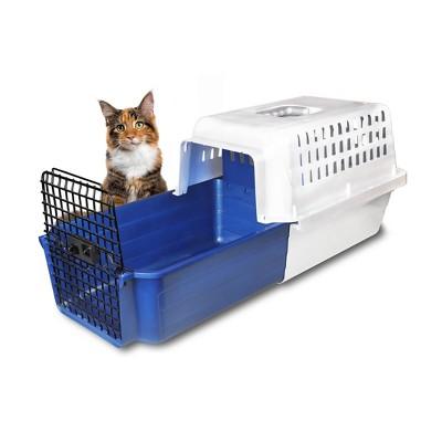 VAN NESS Slide Out Drawer Calm Cat Carrrier - S - Blue