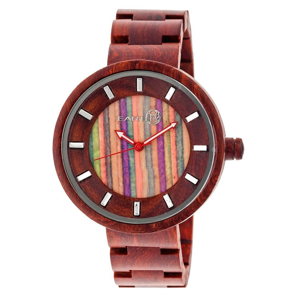 Women's Earth Root Wood Bracelet Watch - Red