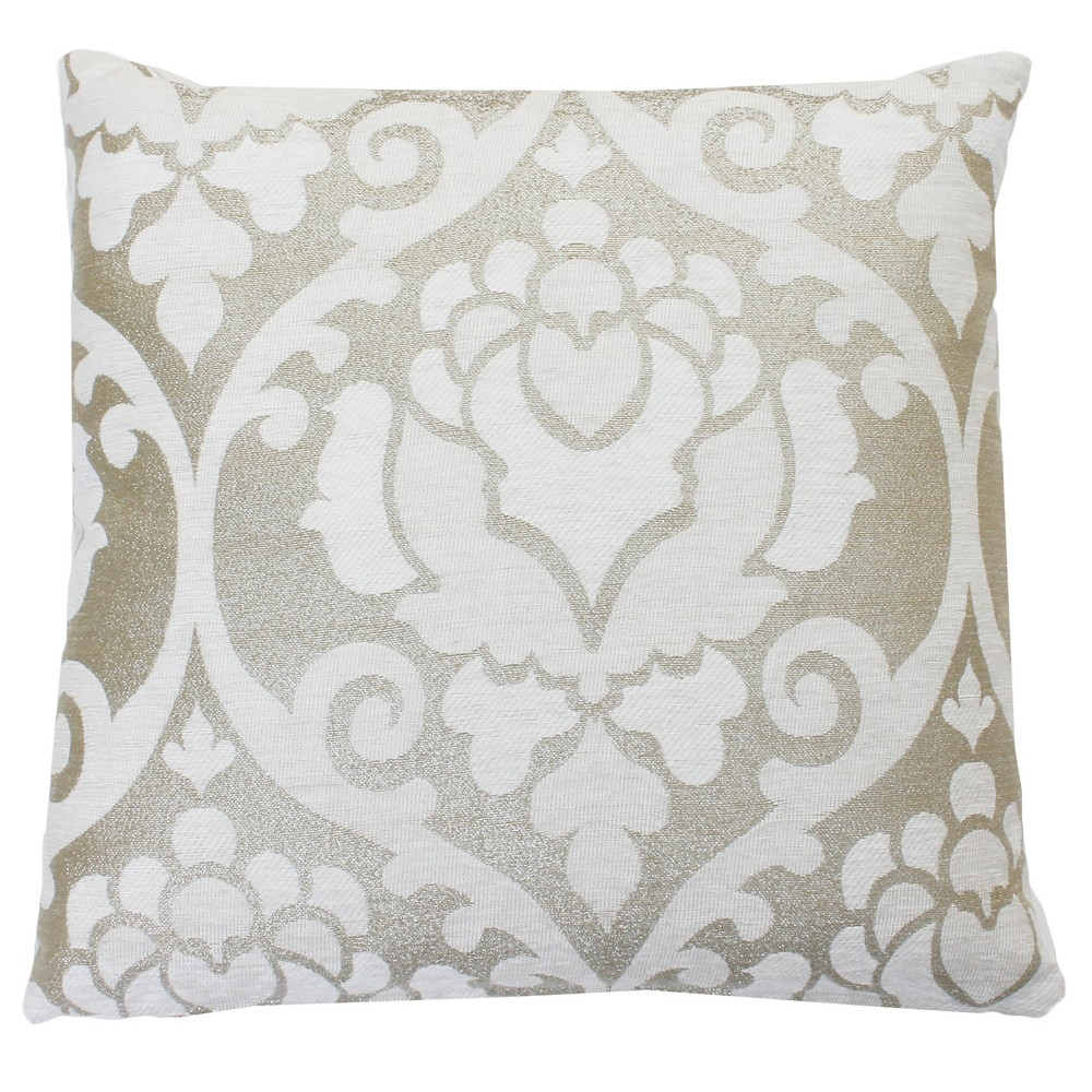 Image of 2pk Grace Oversize Square Throw Pillow White - Decor Therapy