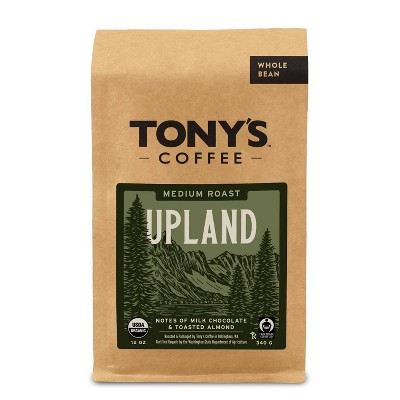 Tony's Coffee Upland Medium Roast Whole Bean Coffee - 12oz