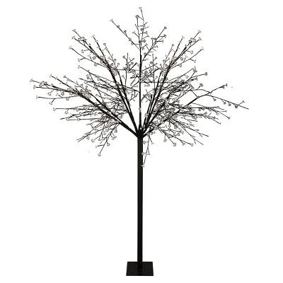 Northlight 8' Prelit LED Multi-Function Cherry Blossom Flower Tree Pure White Lights