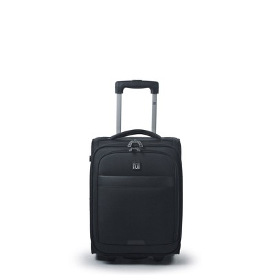 """FUL Mission 18"""" Softside Underseat Carry On Suitcase - Black"""